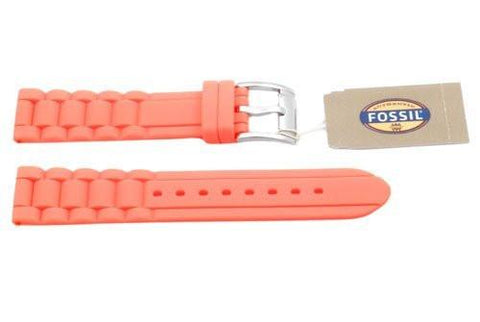Fossil Coral Silicone Link Style 18mm Watch Strap