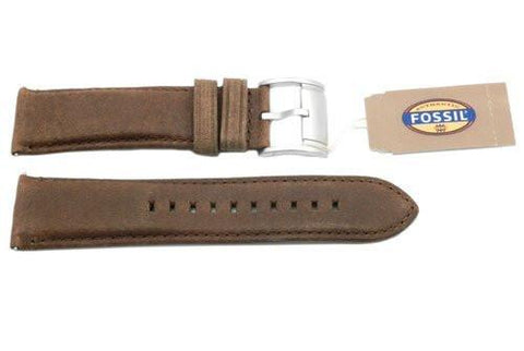 Fossil Tan Genuine Smooth Leather 24mm Watch Strap