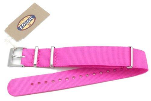 Fossil Pink Long Nylon 18mm Watch Band