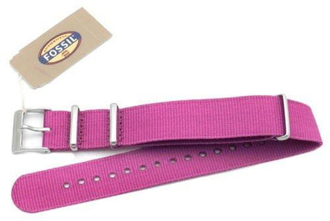Fossil Purple Long Nylon 18mm Watch Strap