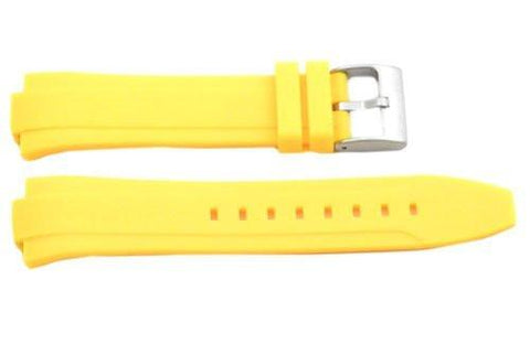 Kenneth Cole Yellow Polyurethane 24/12mm Watch Band