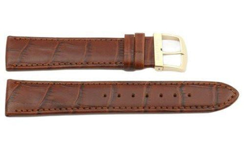 Genuine Citizen Eco-Drive Brown Alligator Grain 20mm Leather Watch Strap