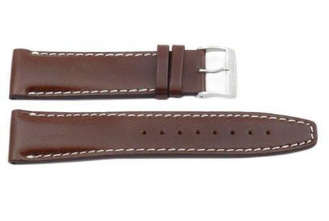 Citizen Eco-Drive Genuine Smooth Brown Leather 22mm Watch Strap