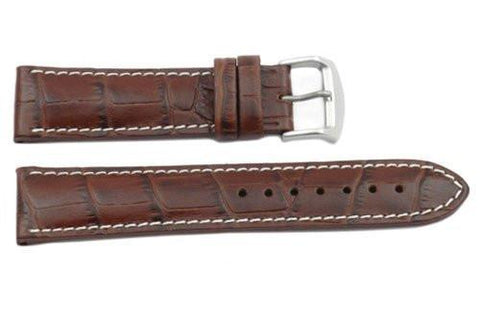 Citizen Eco-Drive Genuine Textured Brown Leather Alligator Grain 22mm Watch Strap