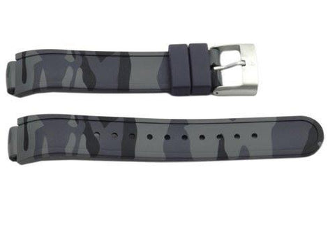 Swiss Army Base Camp Gray Camouflage Rubber 20/13mm Watch Band