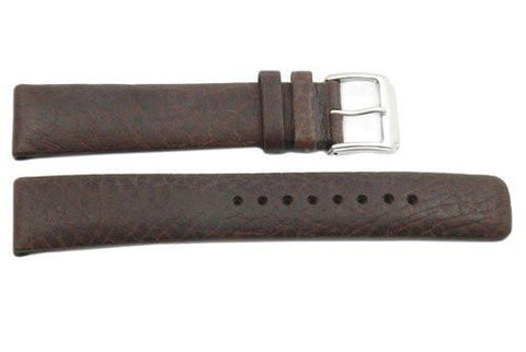 Kenneth Cole Reaction Genuine Textured Brown Leather Square Tip 20mm Watch Band