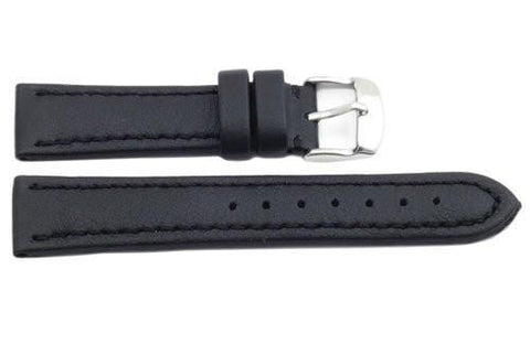 Hadley Roma Genuine Lorica Black Hypo-Allergenic Waterproof 18mm Watch Strap