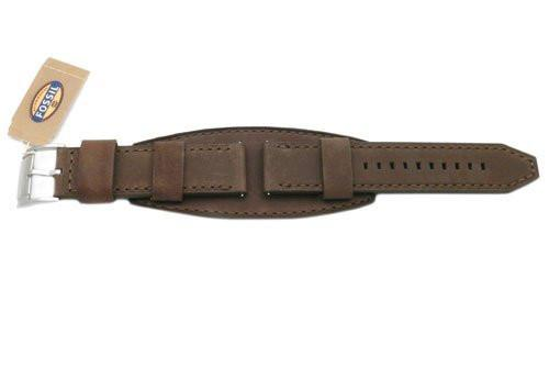 Fossil Genuine Brown Smooth Heirloom Leather 24mm Wide Watch Cuffband