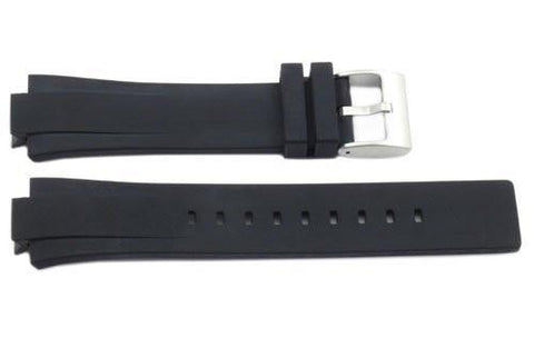 Kenneth Cole Black Polyurethane 24/12mm Watch Strap