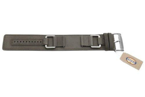 Fossil Gray Smooth Genuine Heirloom Leather 24mm Wide Watch Cuffband