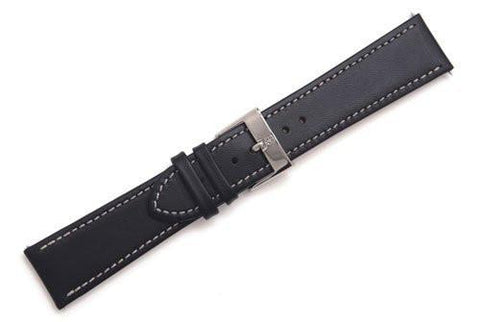 Swiss Army Infantry Series Black Smooth Leather 23mm Watch Strap