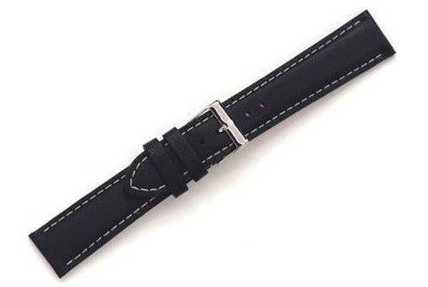Swiss Army Alliance Series Black Smooth 20mm Leather Watch Band