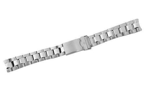 Swiss Army Officer's 1884 Silver Tone Stainless Steel 16mm Watch Bracelet