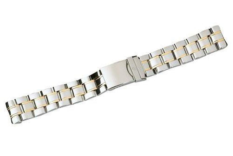Swiss Army Officer's 1884 Dual Tone Stainless Steel Watch Bracelet