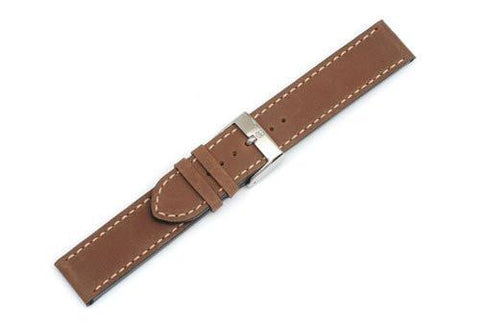 Swiss Army Vivante Series Smooth Brown Leather 20mm Watch Strap