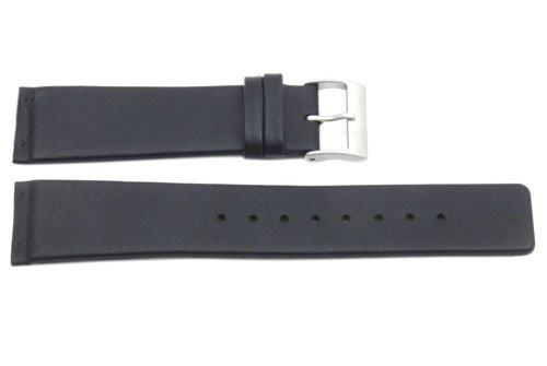 Skagen Style Black Leather 22mm Replacement Watch Strap