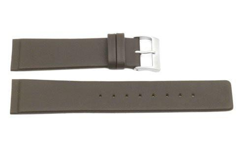 Skagen Style Brown Smooth Leather 22mm Watch Strap