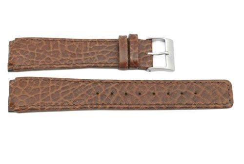 Skagen Style Brown Textured Leather 21mm Watch Strap