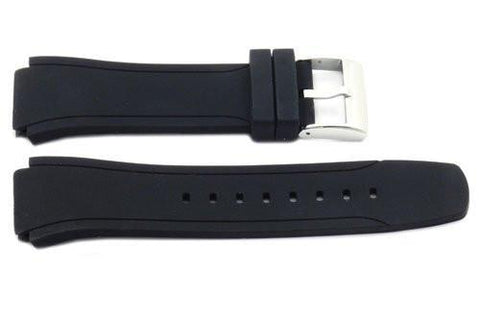 Kenneth Cole Black Polyurethane 28/20mm Watch Band