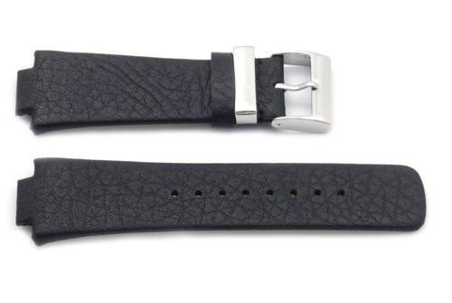 Kenneth Cole Genuine Textured Leather Black 30/16mm Watch Band