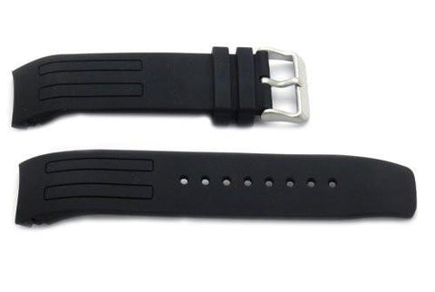 Kenneth Cole Black Polyurethane 22mm Watch Strap