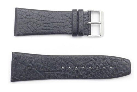 Kenneth Cole Genuine Textured Black Leather 29mm Watch Band