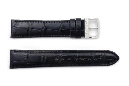 Citizen Eco-Drive Genuine Glossy Leather Black Alligator Grain 20mm Watch Band