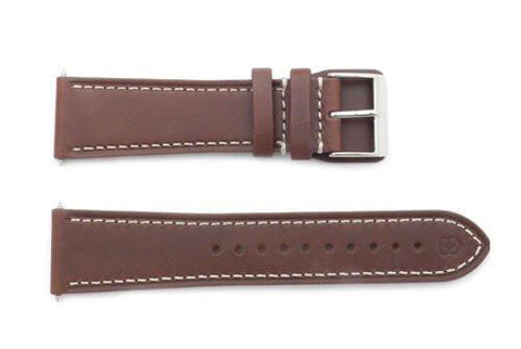 Swiss Army Infantry Series Brown Leather 23mm Watch Band
