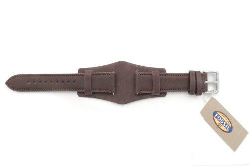 Fossil Genuine Brown Smooth Leather 18mm Wide Watch Cuffband