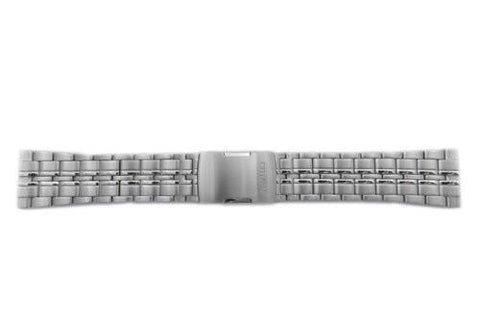 Citizen Stainless Steel 24mm Push Button Clasp Watch Bracelet