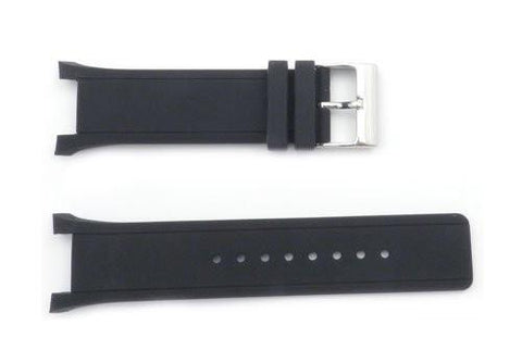 Kenneth Cole Black Polyurethane 26/17mm Watch Strap