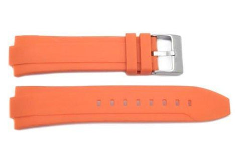 Kenneth Cole Orange Polyurethane 17mm Watch Strap