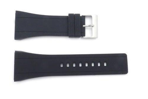 Genuine Kenneth Cole Black Polyurethane 30mm Watch Strap