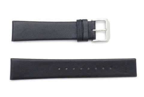Kenneth Cole Reaction Genuine Smooth Black Leather Square Tip 20mm Watch Band