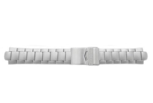 Pulsar Silver Tone Stainless Steel Fold-Over Clasp 10 Watch Bracelet