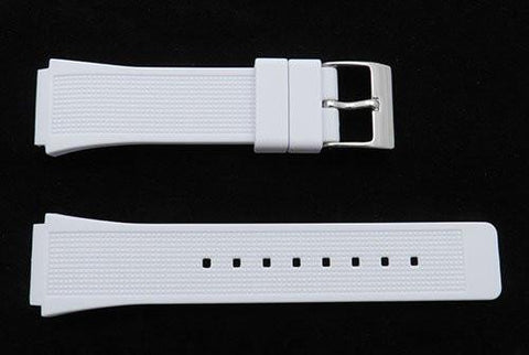 Kenneth Cole White Polyurethane 24/19mm Watch Strap