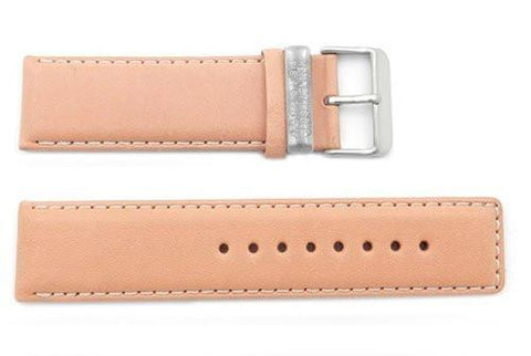 Kenneth Cole Reaction Genuine Smooth Camel Leather Square Tip 24mm Watch Band