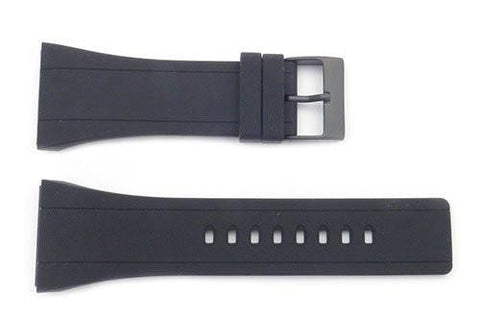 Kenneth Cole 30mm Black Polyurethane Watch Strap