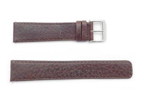 Kenneth Cole 20mm Genuine Brown Textured Leather Square Tip Watch Band