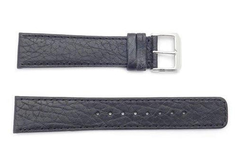 Kenneth Cole 20mm Genuine Black Textured Leather Square Tip Watch Band