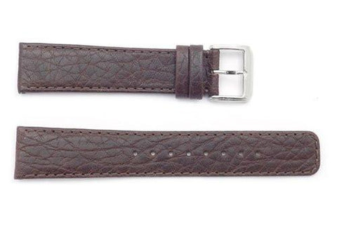 Kenneth Cole Genuine Brown Textured Leather 22mm Watch Band