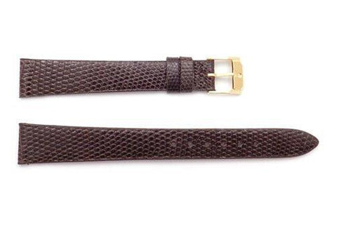 Genuine Movado 15mm Brown Genuine Lizard Long Watch Strap