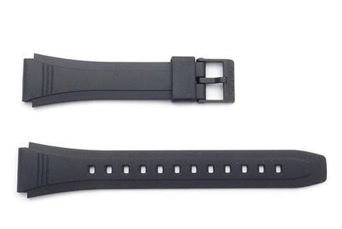 Genuine Casio Black Resin 23/18mm Watch Strap- 10079756