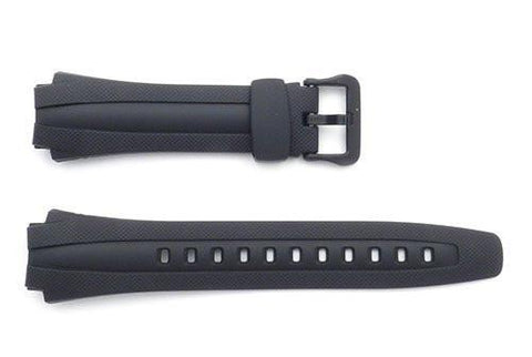Genuine Casio Black Resin 24/17mm Watch Strap- 10137491