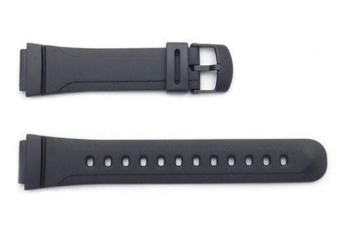 Genuine Casio Black Resin 22/17mm Watch Strap- 10090665