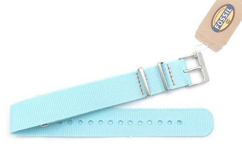 Fossil Mint Nylon 18mm Watch Strap