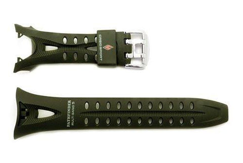 Genuine Casio Pathfinder Sport Green Resin 19/12mm Watch Strap- 10235374
