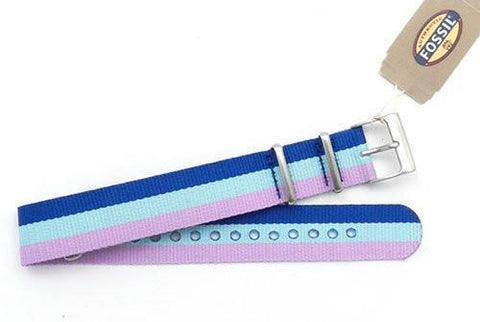 Fossil Polyester Striped 18mm Watch Strap