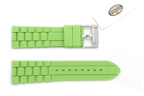 Fossil Bright Green Silicone 24mm Watch Strap