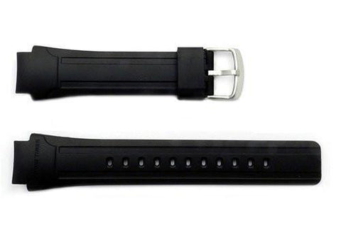 Genuine Casio Black Resin 25/18mm Watch Band- 10226505